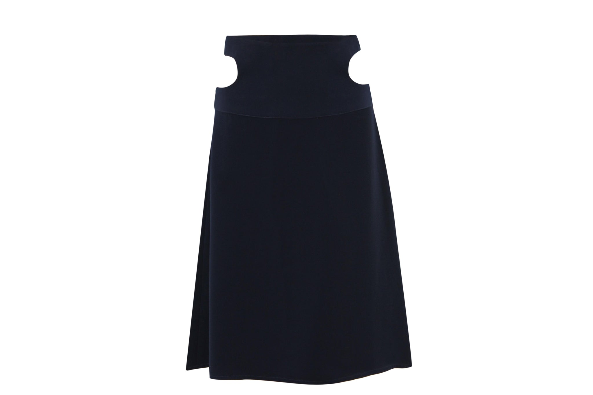 SKIRT WITH WAIST CUT-OUT