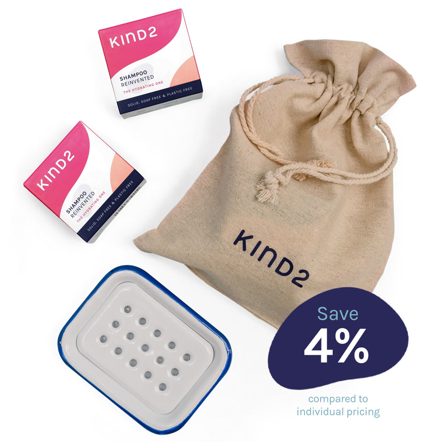 KIND2 - Hydrating shampoo bar gift set