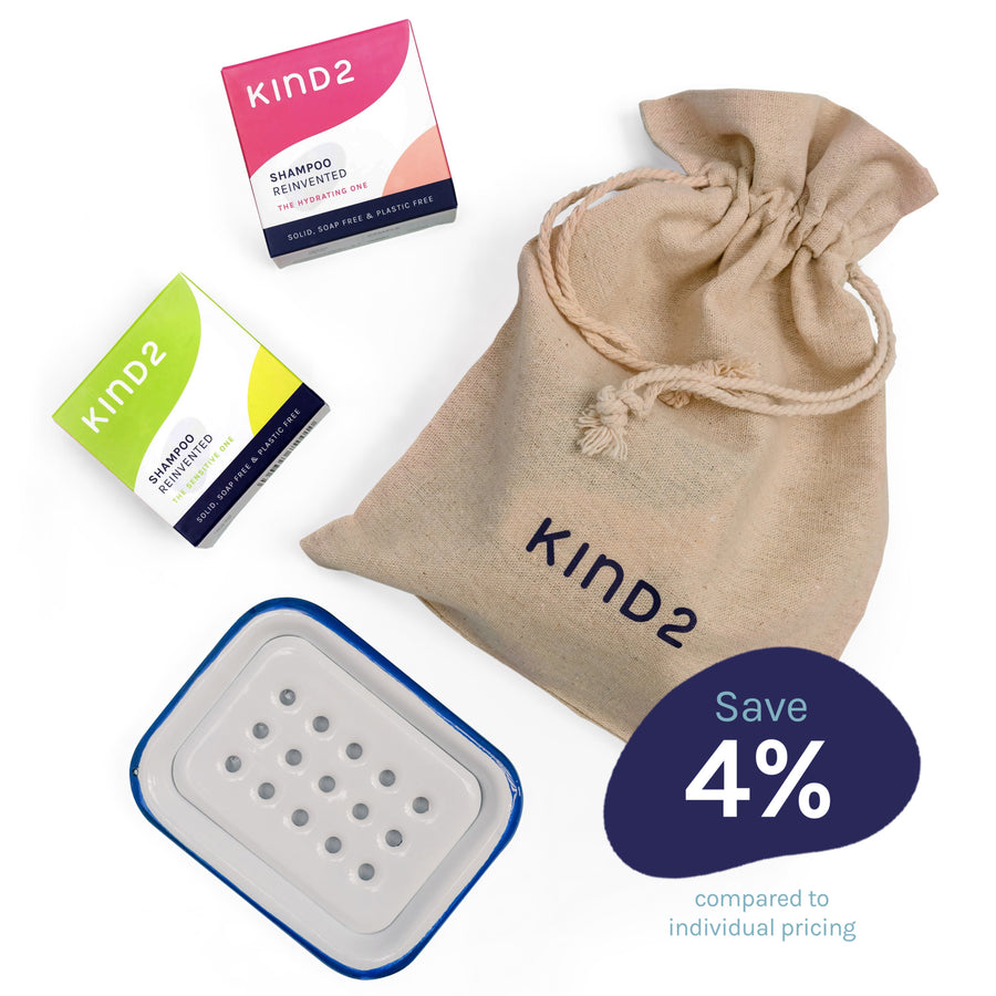 KIND2 Gift Set with Enamel Tray