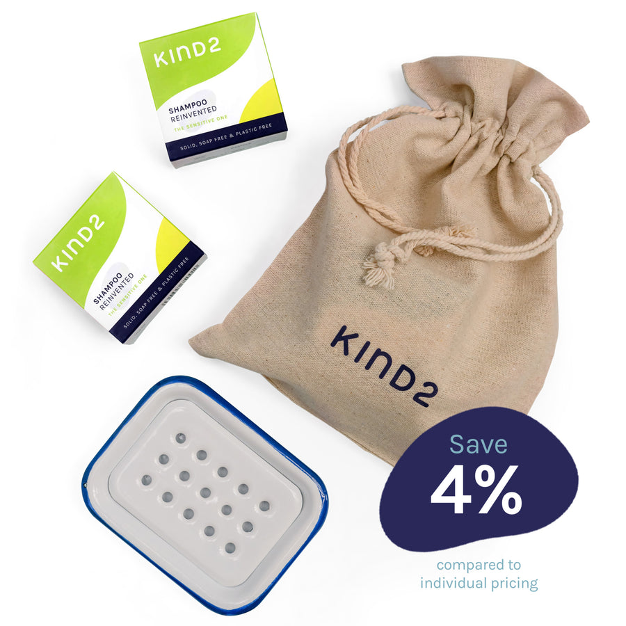KIND2 - Sensitive shampoo bar gift set