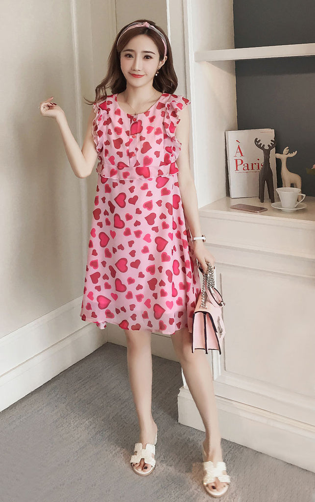 DR10087 Sleeveless Round Neck A-line Dress