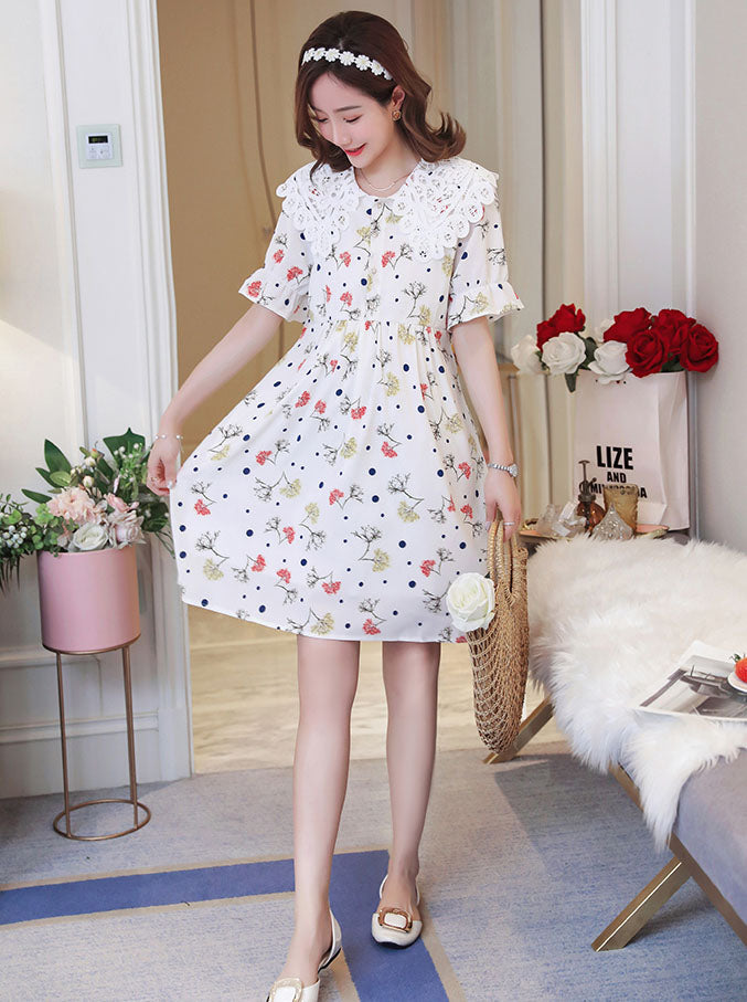 DR10091 Short Sleeve Round Neck Loose Dress
