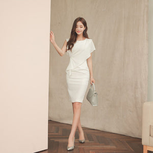 DR10135 Sleeveless Round Neck Sheath Dress