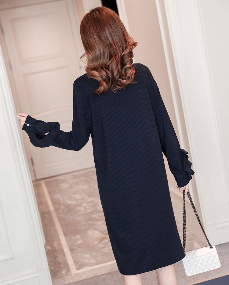DR20093 Long Sleeve Maternity Shirt Dress