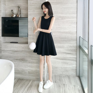 DR20121 Sleeveless Round Neck Skater Dress