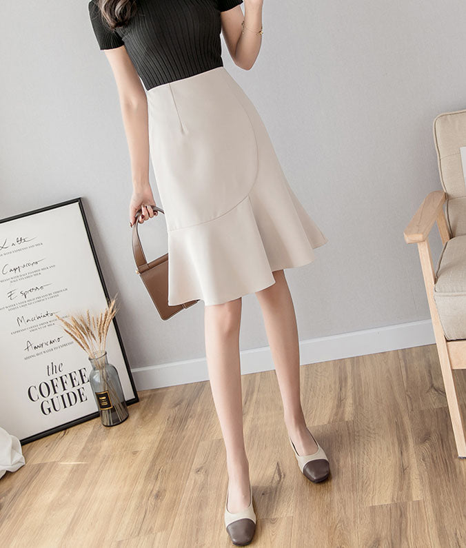 SK10060 Mid Length Fishtail Straight Skirt