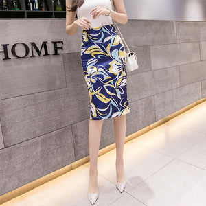 SK20070 Mid Length Flora Pencil Skirt