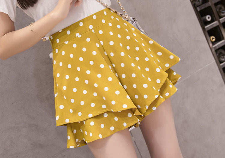 SO20115 High Waist Polka Dot Skorts