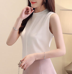 TP20118 Sleeveless Chiffon Top