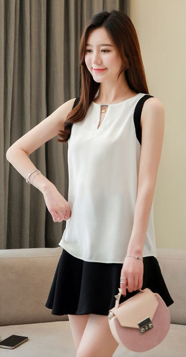 TP20119 Sleeveless Chiffon Top