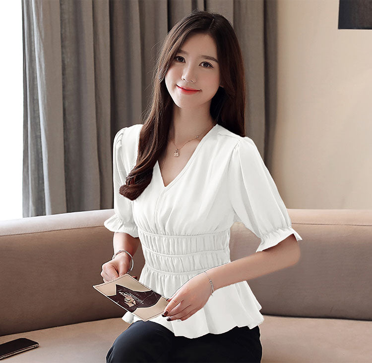 TP20148 Short Sleeve V Neck Top