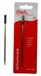 Pen Refill Stat (cross) Bp Med Black