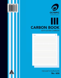 Carbon Book Olympic 606 Dup 10x8 100lf (PK5)
