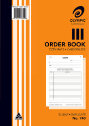 Order Book Olympic 740 Dup C/less A4