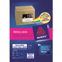 Label Avery Laser L7768 Gloss 2l 199.6x143.5mm 25's