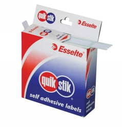 Label Quik Stik Disp 19x32 White