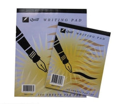 Writing Pad Quill 10x8 Bank 100lf Pwl100 (PK10)