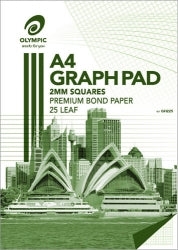 Graph Pad Olympic A4 2mm Top Padded 7 Holes 25lf (PK5)