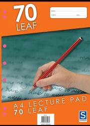 Lecture Pad Sovereign A4 7mm Ruled 70lf