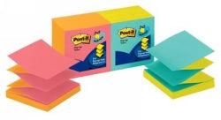 Notes Pop Up Post-it 76x76mm R330-u-alt Capetown 2 Colours Pk12