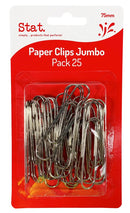 Paper Clips Stat 75mm Jumbo Pk25
