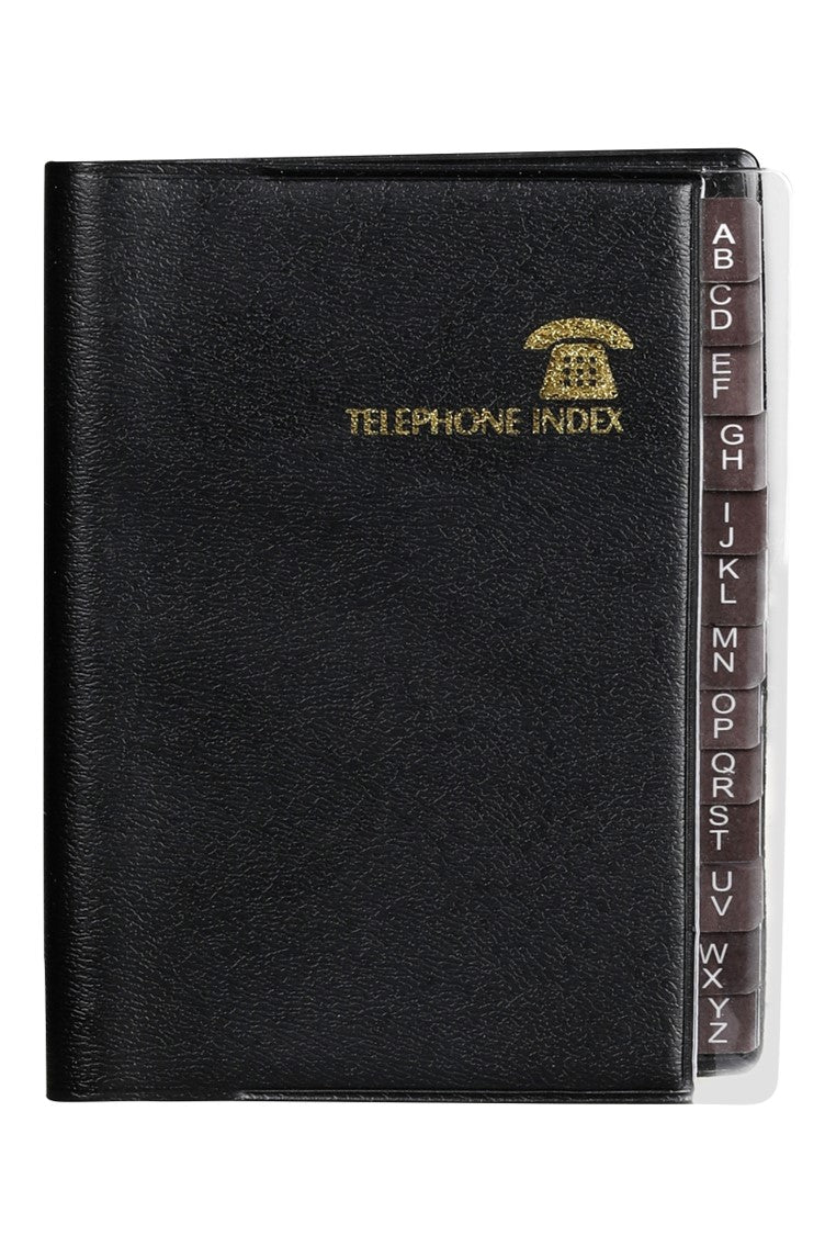 Address Book C/land 100x80 Index Exec Black Fk43be