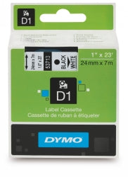 Label Tape Dymo D1 24mmx7m Black On White