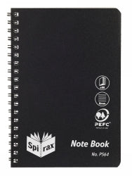 Notebook Spirax P564 Pp S/o 80pg Black