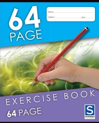 Exercise Book Sovereign 225x175mm 8mm Ruled 64pg (PK20)