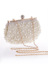 Load image into Gallery viewer, Pearl Bead Luxurious Evening Clutch Bag