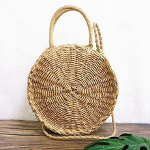 Load image into Gallery viewer, Fashion Circular Straw Bag