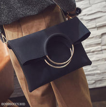 Load image into Gallery viewer, Fashion Casual Plain Mental Round Handle One Shoulder Rectangle Bag