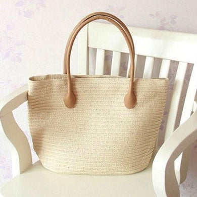 Euramerican Style Fashion Contracted Beach Bag Straw Bag Handbag