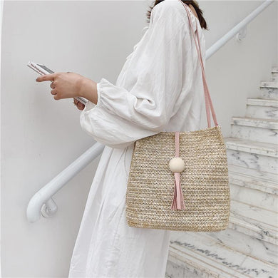 Brisk Summer Casual Straw Bag Clutch Bag Shoulder Bag