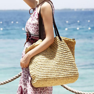 Large-Capacity Wild Straw Bag