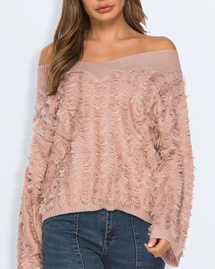 Sexy V-Neck Loose Off-The-Shoulder Sweater