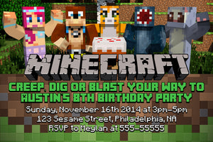 Minecraft Birthday Invitation