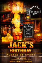 Load image into Gallery viewer, Jack Daniel's Birthday Invitation