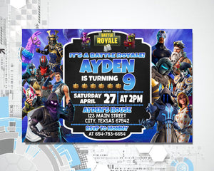 Fortnite Birthday Invitation