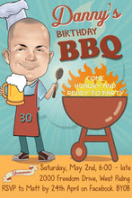 Load image into Gallery viewer, Barbeque Birthday Invitation