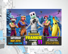 Load image into Gallery viewer, Fortnite Invitation