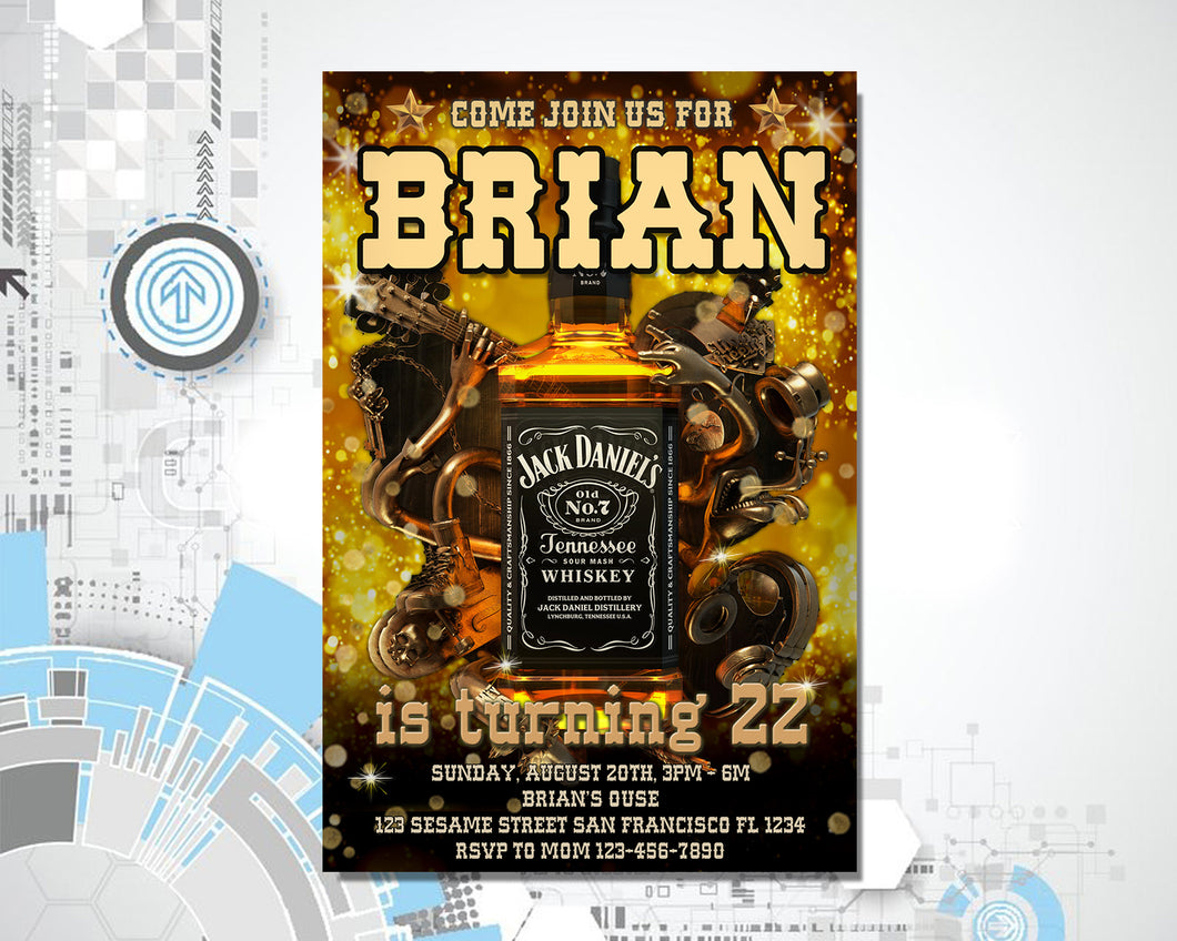 Jack Daniel's Birthday Invitation