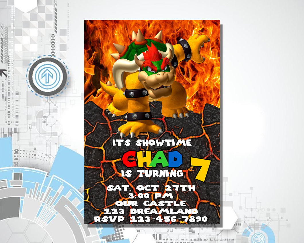New Super Mario Bros Birthday Invitation