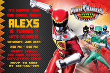 Load image into Gallery viewer, Power Rangers Birthday Invitation