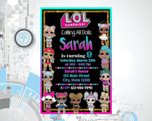 Load image into Gallery viewer, LoL doll Invitations