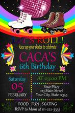 Load image into Gallery viewer, Roller skating Birthday Invitations