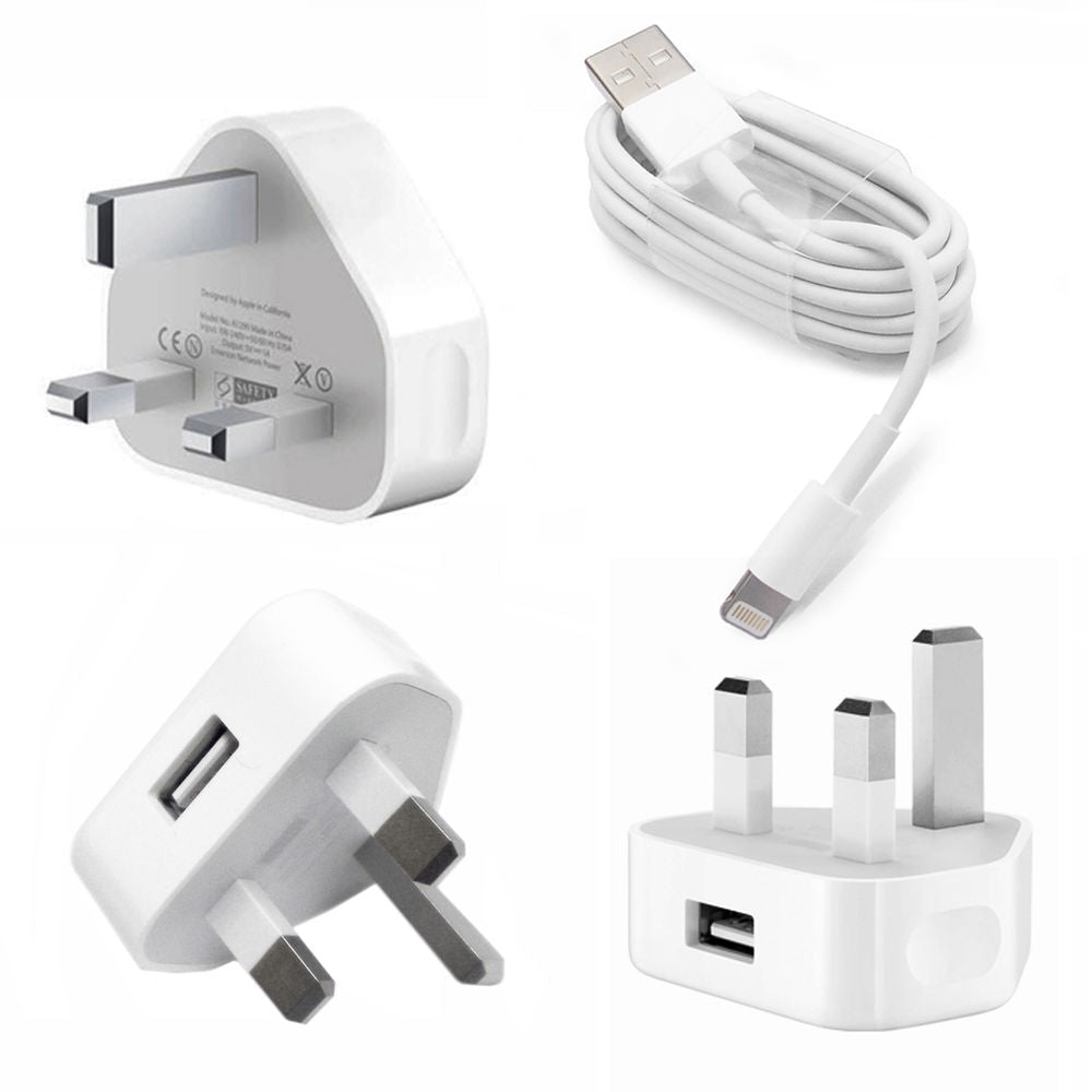 USB Wall Charger with Charging Cable for Apple Devices