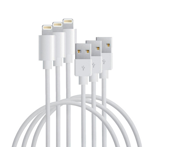 3 Pack USB Charging Cables for Apple Devices (1m/3ft)