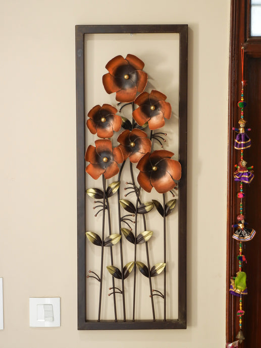 Shivay Arts Metal Flower Wall Decor