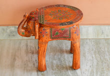 Load image into Gallery viewer, Shivay Arts Wooden Elephant Painted Pouffe Ottoman Stool